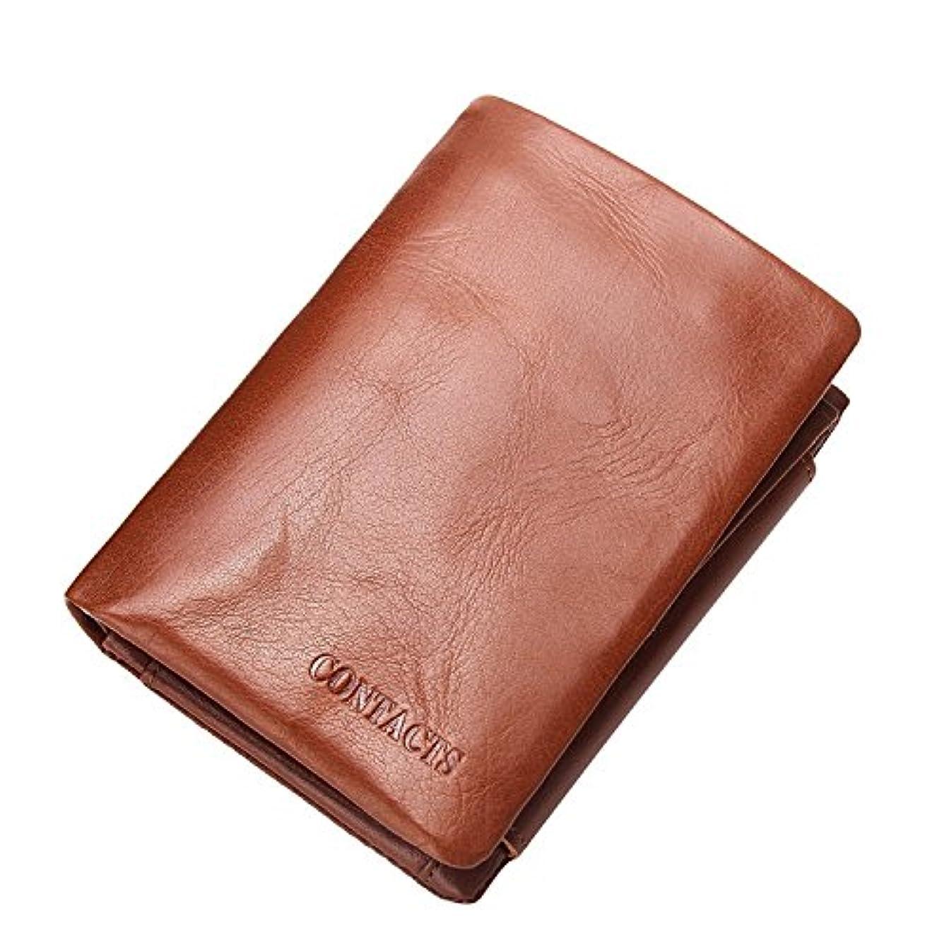 クローン資源魅了するHIRAM 新着メンズ財布 本革財布 男の三つ折り短財布 高級感あふれるそざい(DIY)無料です