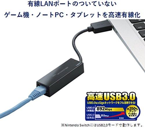 『ロジテック 有線LANアダプタ Nintendo Switch 動作確認済 USB 3.0 ギガビット対応 LAN-GTJU3』の2枚目の画像