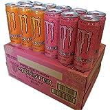 モンスターエナジードリンク カオスとパイプラインパンチ(オレンジ・ピンク) ハーフ&ハーフ 355ml缶×24本入り 1ケース