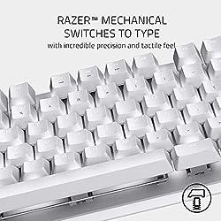 Razer BlackWidow Lite Mercury White メカニカルキーボード 静音オレンジ軸 テンキーレス 英語US配列 【日本正規代理店保証品】 RZ03-02640700-R3M1