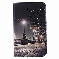 対応 Samsung Galaxy Tap 4 7.0 / T230 カバー ケース 手帳型, Ougger ウォレットカバーカードスロットプレミアムPUレザーフリップケース磁気バンパーポーチホルスタースタンドビュー機能 (風景)