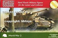 プラスチックソルジャー 1/72 ドイツ 4号戦車 3台セット フィギュア6体付き プラモデル PSCWW2V20002