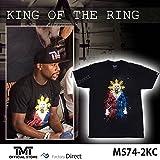 【TMT-MS74-2KC】THE MONEY TEAM ザ・マネーチーム■KING OF THE RING Tシャツ■黒 ブラックシャツ■(フロイド・メイウェザー・ジュニア ボクシング Floyd Mayweather WBA WBC 賞金王)(TMT シャツ TMT ストリート かっこいい ボクシング ストリート系 おしゃれ)