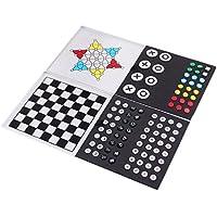Perfk ミニ アルミ チェスセット チェスマン 折りたたみ チェス盤 ボードゲーム
