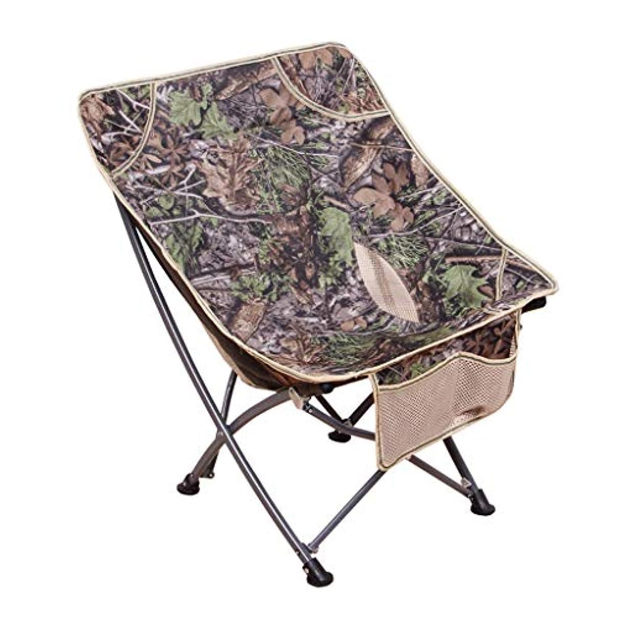 明らか検出するぴかぴかキャンプ椅子屋外ポータブル折りたたみ椅子スポーツ椅子釣り椅子バーベキュービーチスツールスケッチチェアレイジーチェア (Color : Brown)