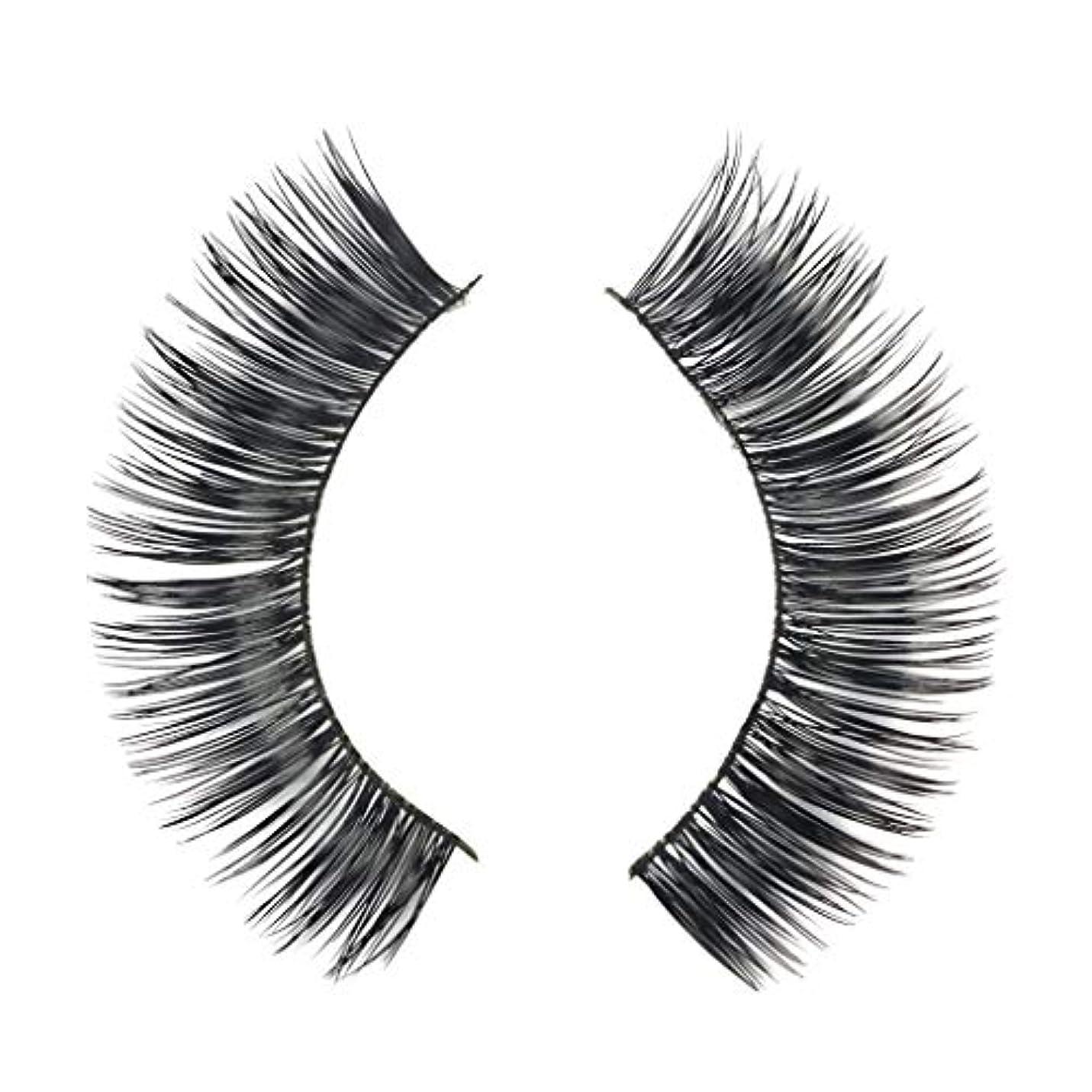 特殊シーケンス黒くするミンクの毛の自然な厚くなる化粧品の3D版のための一組のまつげ