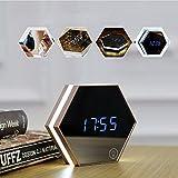 PowerLead 多機能の目覚まし時計、鏡として/ライト/LED数字の温度計を持ちます