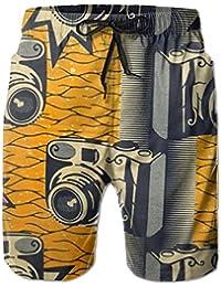 デジカメ メンズ サーフパンツ 水陸両用 水着 海パン ビーチパンツ 短パン ショーツ ショートパンツ 大きいサイズ ハワイ風 アロハ 大人気 おしゃれ 通気 速乾