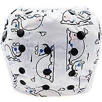 Ligangam 水あそびパンツ女の子 男の子 水着 スイムパンツ オムツパンツ スイミングパンツ スイミング教室?公園?海水浴?温泉旅行 柔らかい 通気 洗える オムツ機能付 再利用可能 ボタンでサイズ調整可能 防水外層 誕生日お祝い (3-15kg)