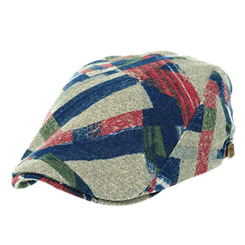 [PLIC N PLOC]EMH06.幾何学ジャージーメンズベレー帽 ハンチング フラットキャップ帽子 鳥打ち帽 春 秋