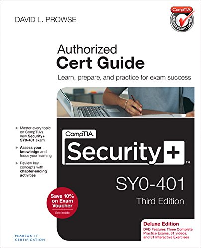 Download CompTIA Security+ SY0-401 Cert Guide, Deluxe Edition (3rd Edition) 0789753332