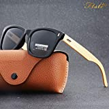 2dc76dbe55 EVSTA  Polarized Bamboo Sunglasses Mens Womens Vintage Mirrored Wooden  Sunglasses by Evsta Buy new   14.84 -  16.50 (Visit the Ho.