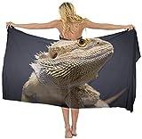 American Tang水着カバーアップSarongラップBearded Dragonトカゲ動物スカーフスカート