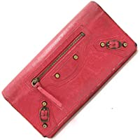 BALENCIAGA(バレンシアガ) 二つ折り長財布 ジャイアント マネー 186194 レッド レザー 中古 ロングウォレット 赤 BALENCIAGA [並行輸入品]
