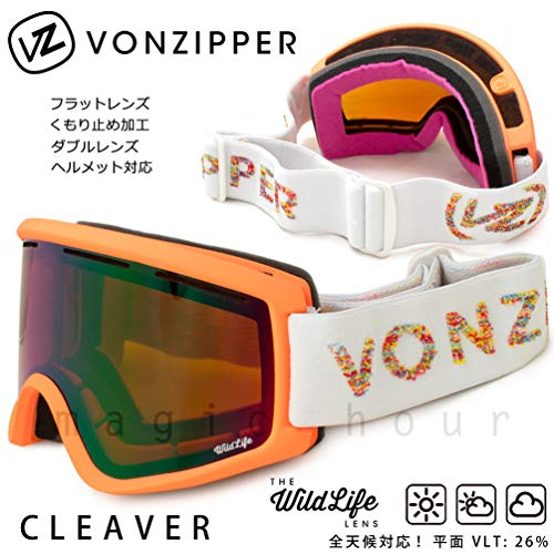 スノーボード ゴーグル VONZIPPER ボンジッパー CLEAVER クリーバー メンズ レディース スキー スノボ スノーゴーグル ジャパンフィット ミラー くもり止め COR F