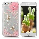 iPhone6 ケース クリア iPhone6s ケース キラキラ 動く 流れ星 個性的で可愛らしい ラインストーンデコ クリア スマホケース 耐衝撃カバー アイフォン6 アイフォン6sカバー