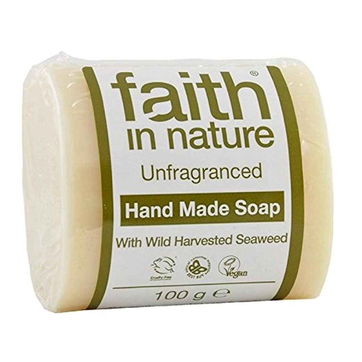 ちなみにステーキヒギンズFaith in Nature Unfragranced Pure Hand Made Soap 100g (Pack of 4) - (Faith In Nature) 自然の中で信仰は純粋な手作り石鹸100グラムを無香料...
