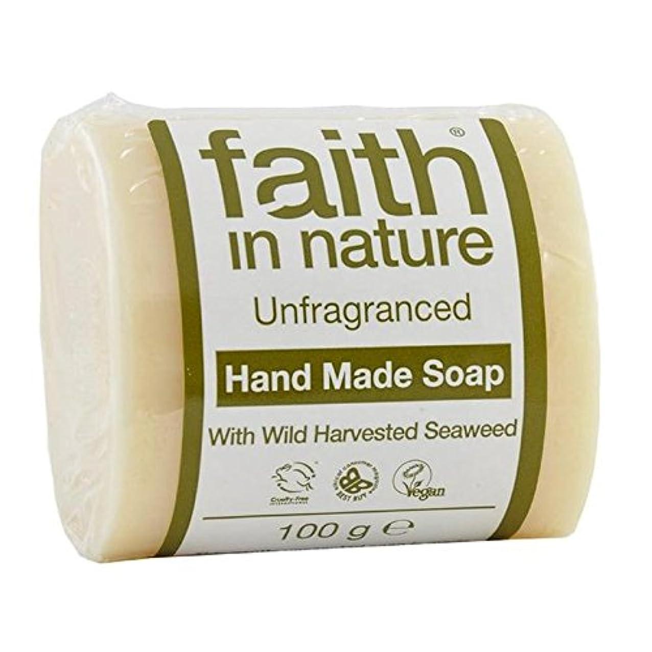 鉄道批判する気分が悪いFaith in Nature Unfragranced Pure Hand Made Soap 100g (Pack of 2) - (Faith In Nature) 自然の中で信仰は純粋な手作り石鹸100グラムを無香料 (x2) [並行輸入品]