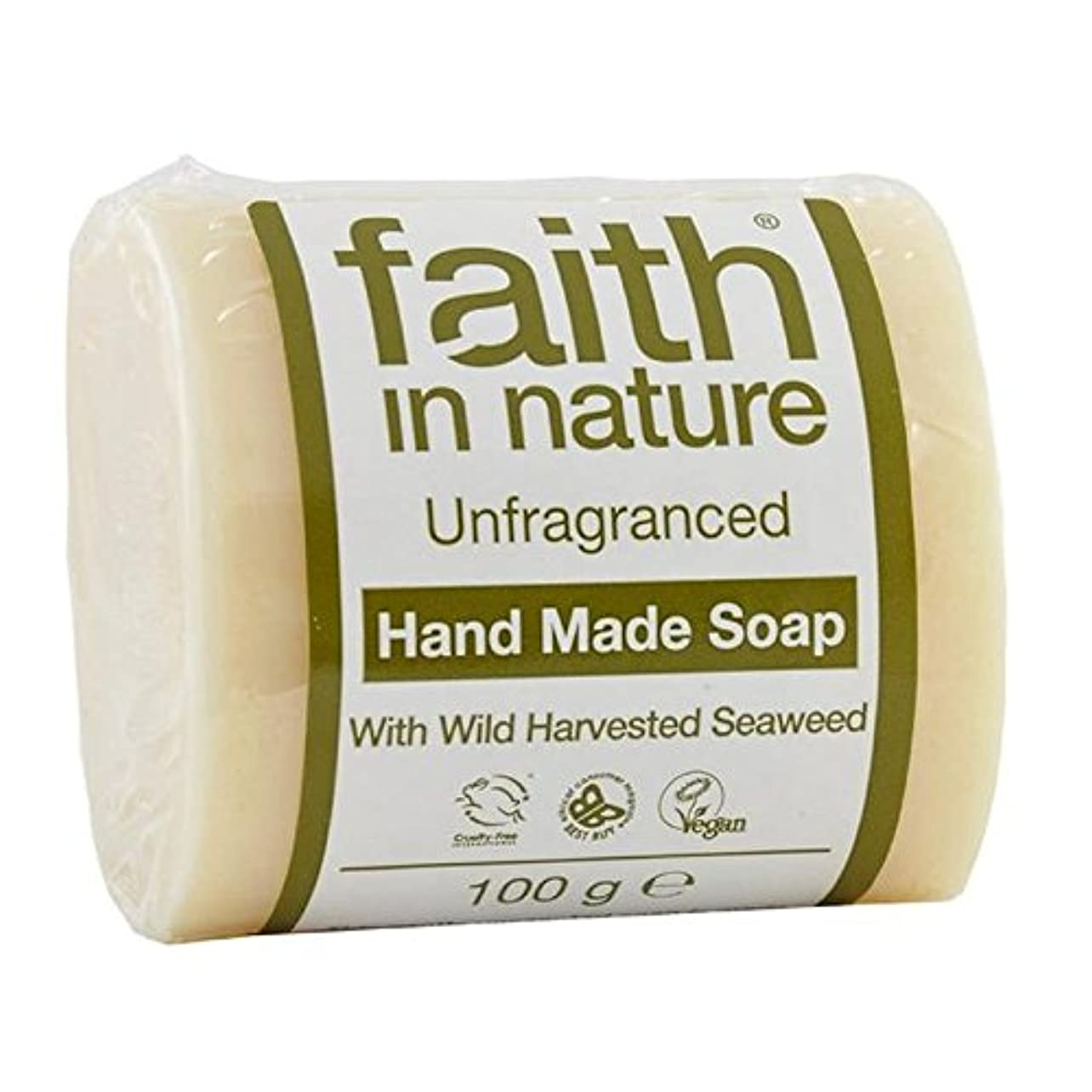 Faith in Nature Unfragranced Pure Hand Made Soap 100g (Pack of 6) - (Faith In Nature) 自然の中で信仰は純粋な手作り石鹸100グラムを無香料...