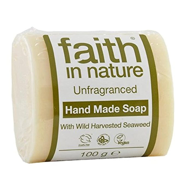 バイオレットキロメートルやりがいのあるFaith in Nature Unfragranced Pure Hand Made Soap 100g - (Faith In Nature) 自然の中で信仰は純粋な手作り石鹸100グラムを無香料 [並行輸入品]