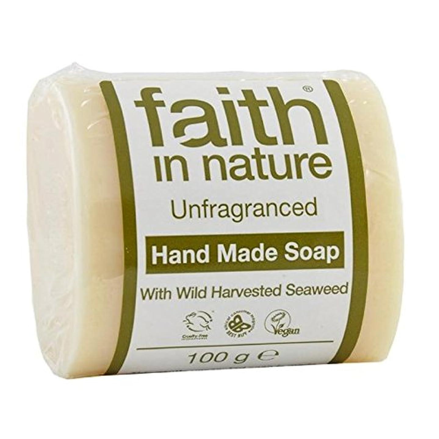 予見する乱れ侵略Faith in Nature Unfragranced Pure Hand Made Soap 100g (Pack of 4) - (Faith In Nature) 自然の中で信仰は純粋な手作り石鹸100グラムを無香料...