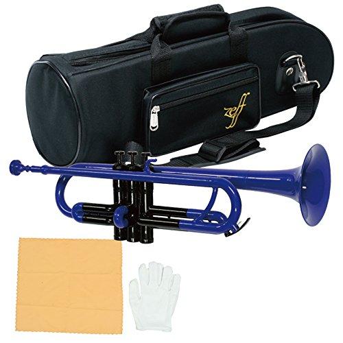 Zeff トランペット プラスチック製 B♭ ZPT-01 ブルー / ブラック