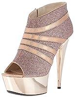 Ellie Shoes Women's 609-Kiki Platform, Gold, 8 Medium US