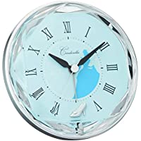 Disney ( ディズニー ) キャラクター 目覚まし 時計 アナログ シンデレラ 電子音 青 リズム時計 4SE546MC04