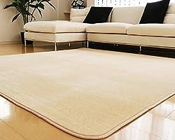 洗えるラグ ラグマット 滑り止め付 ラグカーペット 春 夏 カーペット 対応 フランネル 長方形 四角 絨毯 リビング 新生活 マイクロファイバー