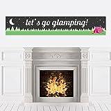 Bigドットの幸せのLet 's Go Glamping – Camp Glampパーティーデコレーションパーティーバナー