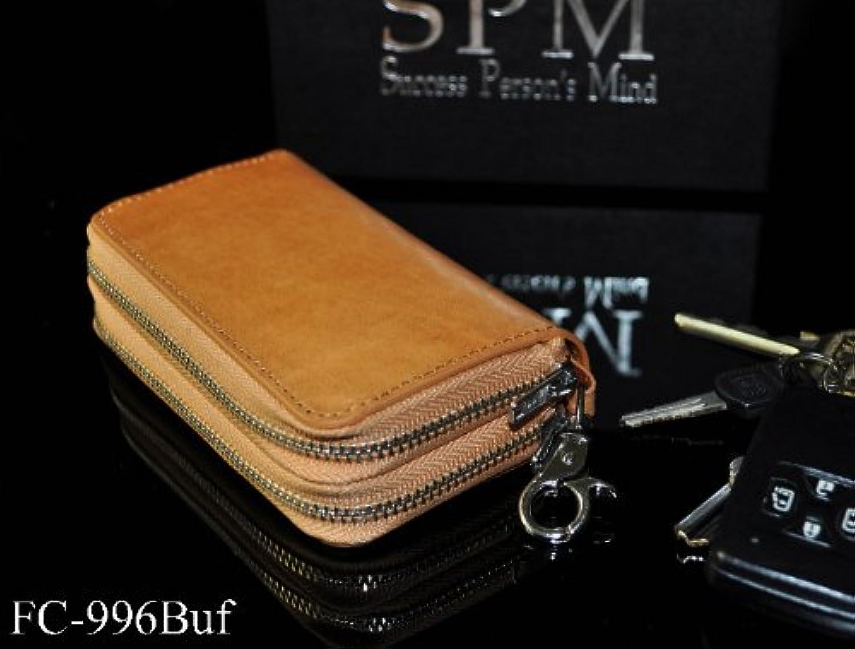 【SPM996BUF】マルチキーウォレット バッファローWダブルファスナーキーケース&コインケース コンパクトチビ財布