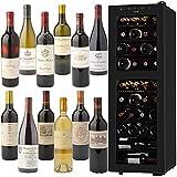 【お酒ストア5周年記念セット】ボルドー・メドック1級/ブルゴーニュ特級入りワイン12本と さくら製作所低温冷蔵ワインセラー 38本収納セット