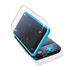ニンテンドー New 2DS LL用 ハードケース コンパクト KINGTOP 任天堂 Newニンテンドー2DS LL 対応保護カバー 指紋防止 耐スクラッチ 装着簡単  全面保護  PC素材 クリア