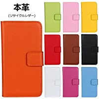 DeftD iphone 8 Plus/iphone 7 Plus 兼用 本革 (リサイクルレザー) ケース 手帳型 マグネット式留め具 携帯 カバー カード収納 スタンド機能 スマホケース イエロー
