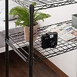 ドウシシャ メタルラックパーツ ブラック 幅81×奥行41cm ADDワイヤーシェルフ(置き棚) ルミナス ノワールシリーズ NO8040-OS 画像