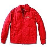 (ビルバン)BILLVAN 50'sオールドスタイル高密度サテン生地 スウィングトップ チェーン刺繍 ドリズラージャケット 40(L) レッド