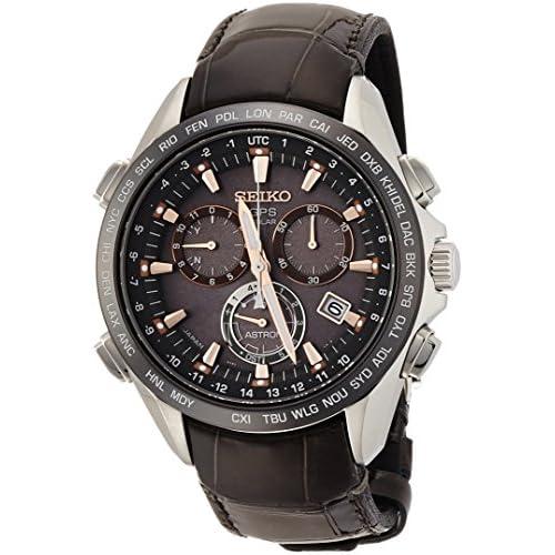 [アストロン]ASTRON 腕時計 ソーラーGPS衛星電波修正 サファイアガラス  スーパークリア コーティング  日常生活用強化防水(10気圧) クロコダイルバンド SBXB023 メンズ