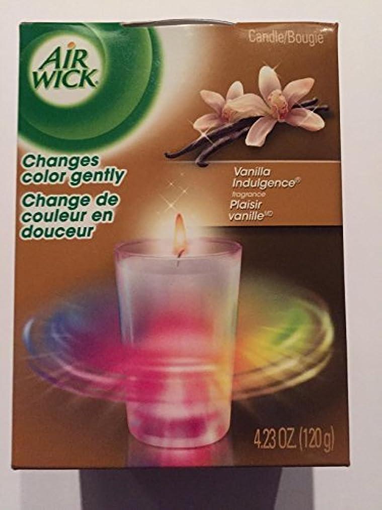 手錠開梱ゴシップエアウィック キャンドルの色が変わる バニラインダルジェンスの香り  並行輸入品
