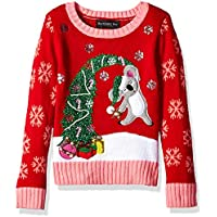 Blizzard Bay Girls L/S Crew Neck Christmas Tree Sweater Sweater - Multi