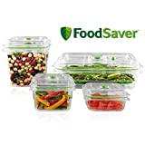 FoodSaver B01AJJ1WNA FA4SC35810-000 Fresh Vacuum Seal Food and Storage Containers, 4-Piece Set, Clear, Multi