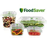 FoodSaver Vacuum Sealed Fresh Containers, 4-Piece Set, Crack/Shatter/Odor/Stain Resistant, BPA Free