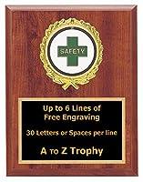 安全Plaque Awards 7x 9木製従業員Worker TrophiesビジネスTrophy Free Engraving