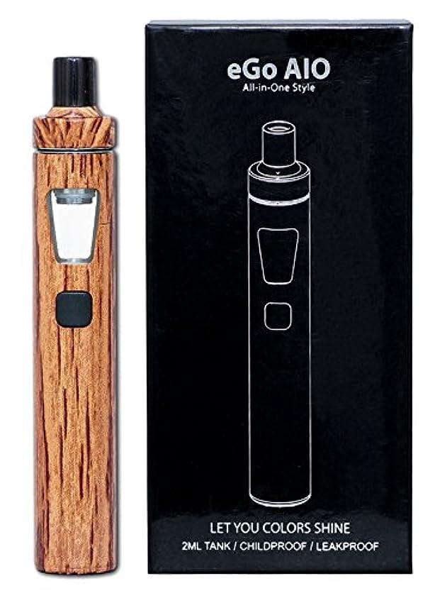 かご群衆牛電子タバコ 爆煙 「正規品」【joyetech/ジョイテック】 eGo AIO (Wood) イーゴ エーアイオー おまけ付き 本体 アトマイザー セット スターター キット vepe mod