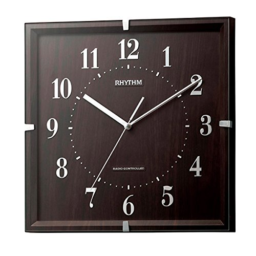リズム RHYTHM 電波掛け時計 ライブリーエミリ 8MY502SR06 ブラウン