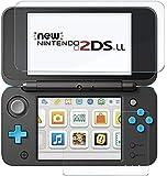 RoiCiel Nintendo 2DS LLガラスフィルム /Newニンテンドー2DS LL『上・下セット』 用強化ガラス 高精細 クリスタル透明度 9H硬度 ガラス飛散防止 指紋防止 気泡ゼロ