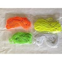 ヨーヨーストリング 替え紐 40本 (各色10本ずつー蛍光黄緑、黄色、オレンジ、白)
