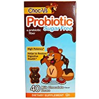 Yum-V's, Probiotic + Prebiotic Fiber, Milk Chocolate, Sugar-Free, 40 Bears