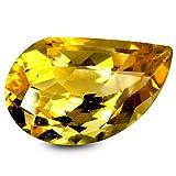 シトリン ルーズジェムストーン 3.44 ct HKD Certified Fancy Shape (13 x 8 mm) Yellow Citrine Natural Gemstone
