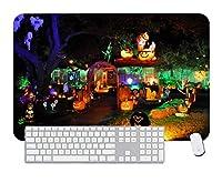 ゲーミングマウスパッドハロウィンガーデンデスクトップおよびラップトップ用1パック700x300x3mm / 27.5x11.7x1.1 in