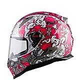 モーターバイククラッシュモジュラーヘルメットハイセーフ - NENKIフルフェイスレーシングモーターサイクルヘルメットとサンバイザーのアダルトメンズレディース,L